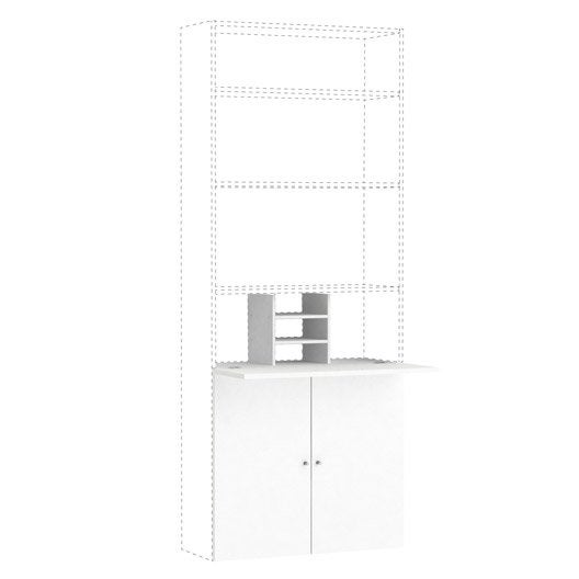 kit bureau spaceo home 100 x 80 x 30 cm blanc leroy merlin. Black Bedroom Furniture Sets. Home Design Ideas