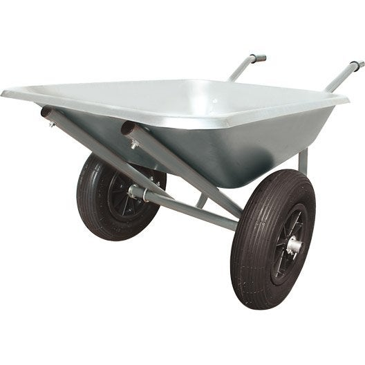brouette roue gonfl e acier galvanis altrad 100 l. Black Bedroom Furniture Sets. Home Design Ideas
