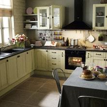 Meuble de cuisine delinia cuisine quip e am nag e modulable moderne bois design ilot - Prix cuisine professionnelle complete ...