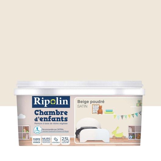 Peinture beige poudré satin RIPOLIN Chambre enfants 2.5 l | Leroy Merlin