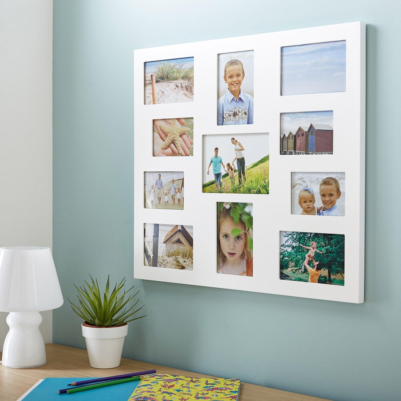 cadre multivue adam 10 x 15 cm blanc leroy merlin. Black Bedroom Furniture Sets. Home Design Ideas