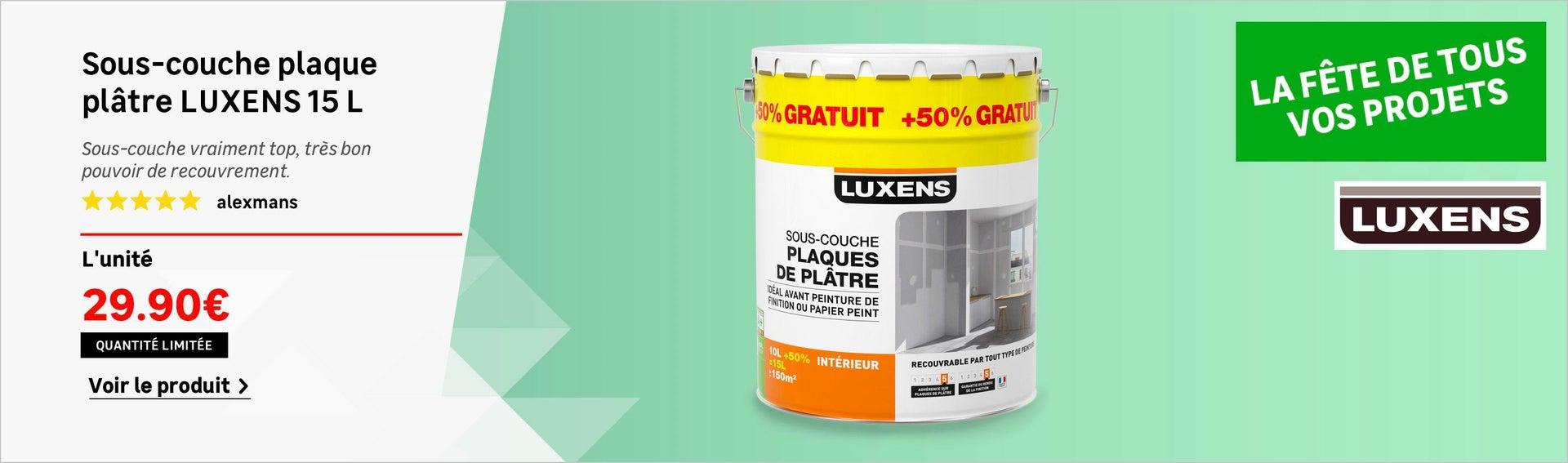 Sous-couche plaque de plâtre LUXENS