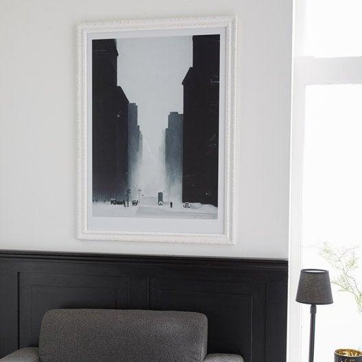 cadre flanella 50 x 70 cm blanc leroy merlin. Black Bedroom Furniture Sets. Home Design Ideas