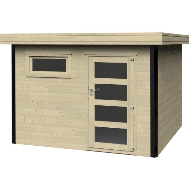 Abri de jardin bois DECOR ET JARDIN Elite Ep.28 mm, 8.18 m² ...