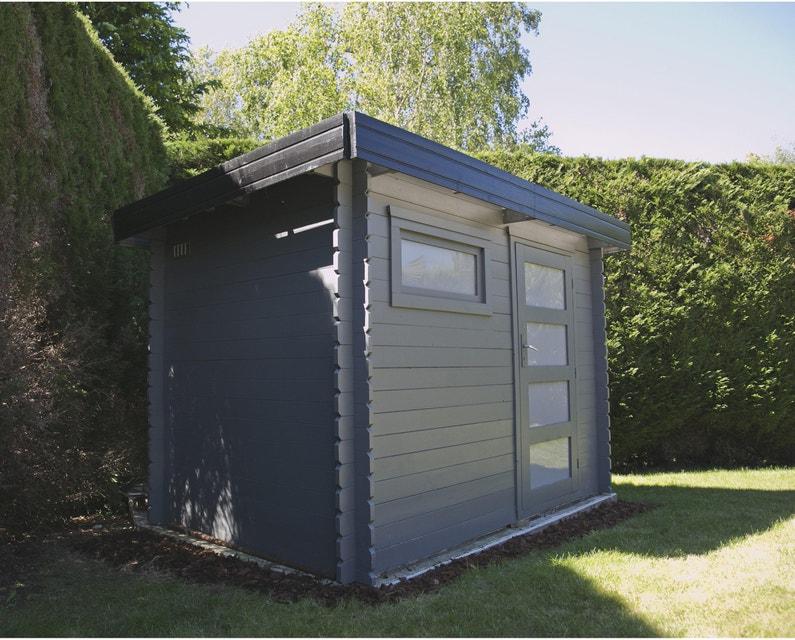 Abri de jardin bois Elite Ep.28 mm, 8.2 m² | Leroy Merlin