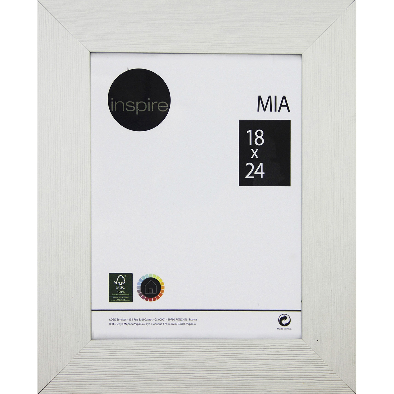 Cadre Mia, 18 x 24 cm, blanc