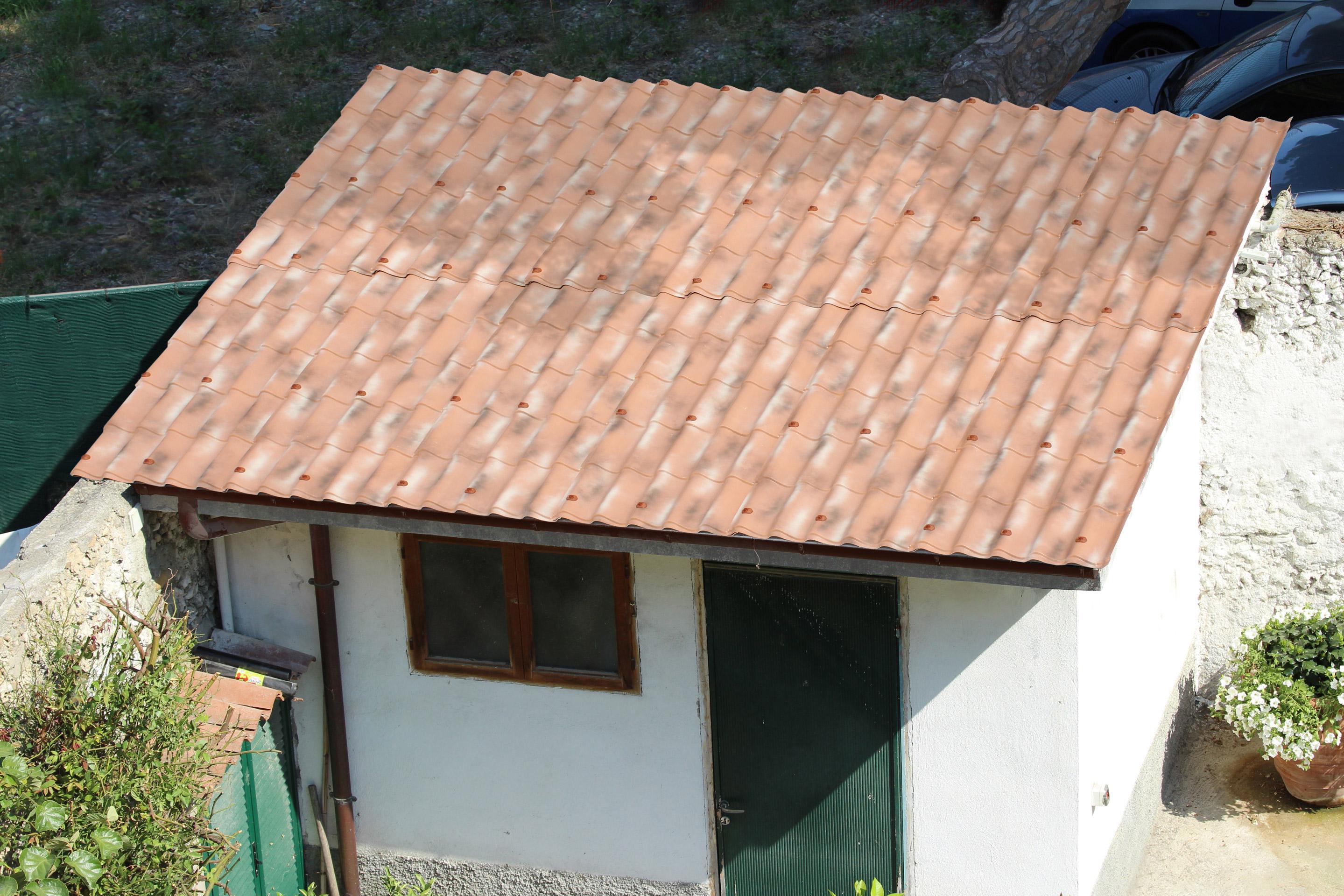 Plaque de toiture imitation tuile pvc sienne antique l.1.02xL.2.03 m FIRST PLAST | Leroy Merlin