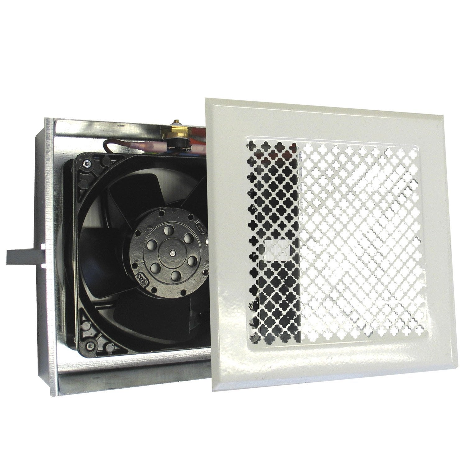 Boitier de ventilation air chaud pour hotte dmo blanc for Installer un extracteur d air