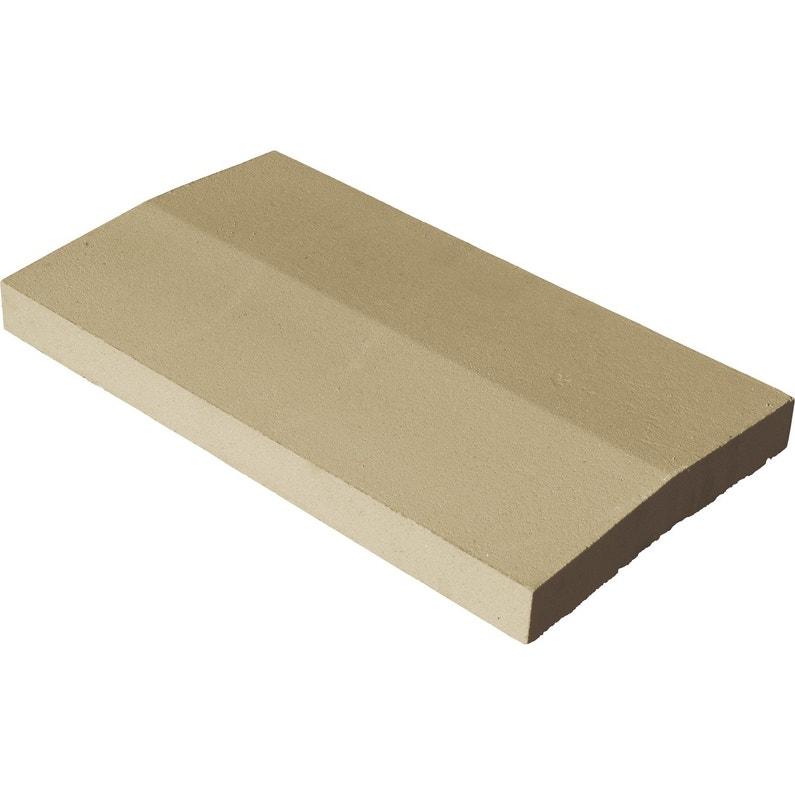 Couvre Mur 2 Pans Classique Lisse Ton Pierre H4 X L33 X P49 Cm