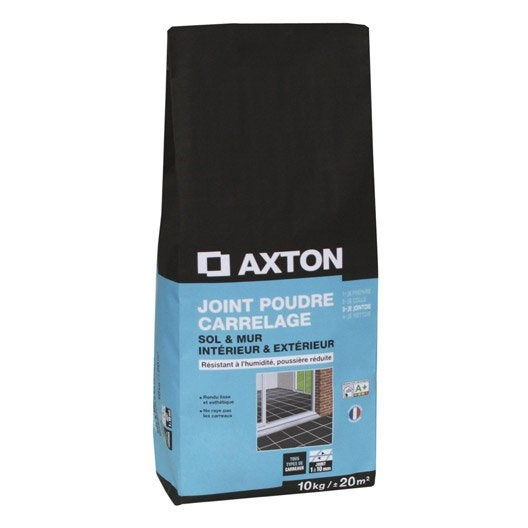joint poudre tout type de carrelage et mosa que axton gris anthracite 10 kg leroy merlin. Black Bedroom Furniture Sets. Home Design Ideas