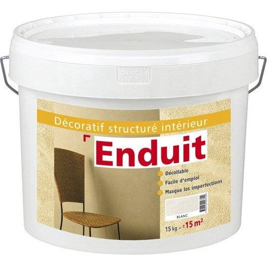 Peinture effet enduit 1er prix cirer id beige 15 kg leroy merlin for Peinture enduit interieur