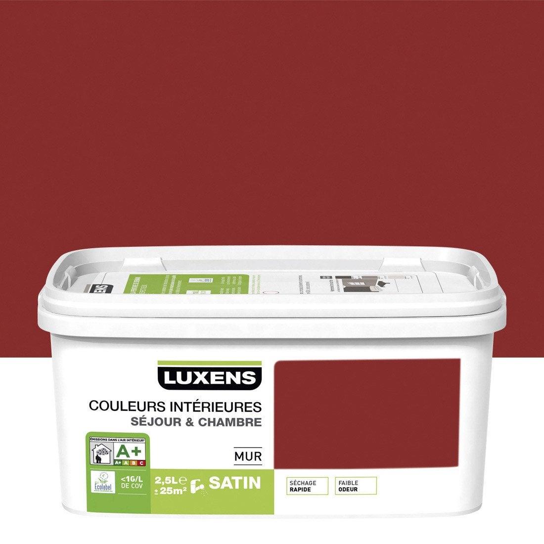 Peinture Rouge Gourmand 2 Satin Luxens Couleurs Int Rieures 2 5 L