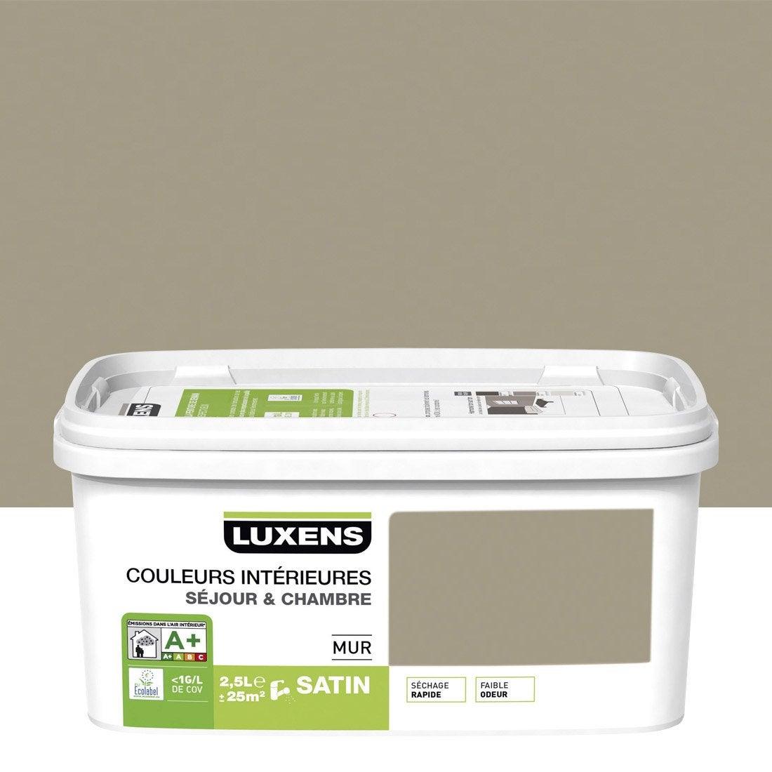 Peinture gris doré 5 satin LUXENS Couleurs intérieures 2.5 l | Leroy ...