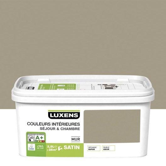 Peinture gris dor 5 luxens couleurs int rieures 2 5 l for Peinture porte et encadrement