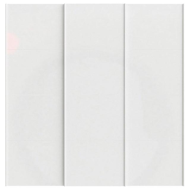 Lot De 3 Portes Coulissantes Spaceo Home 240 X 240 X 15 Cm Blanc Brillant Leroy Merlin
