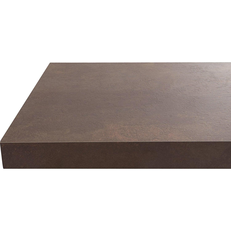 plan de travail stratifi effet cuivre mat x cm. Black Bedroom Furniture Sets. Home Design Ideas