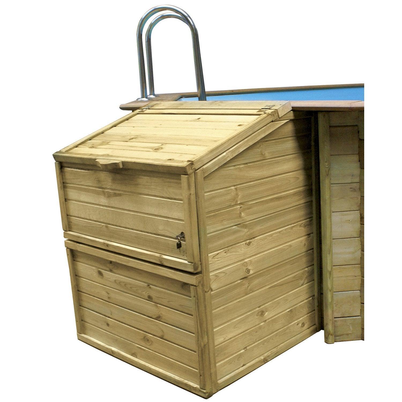coffre de filtration pour piscine hauteur 1,20m proswell   leroy merlin
