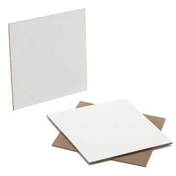 Prédécoupé fibres dures blanc, Ep.3.2 mm L.80 x l.40 cm