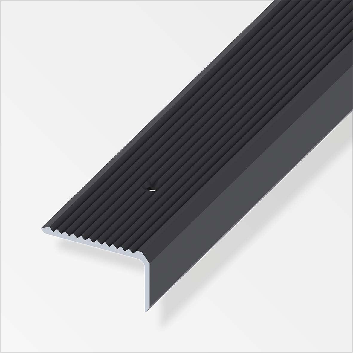 Nez de marche aluminium anodis l 2 m x l 4 1 cm x h 2 3 - Nez de marche escalier exterieur ...