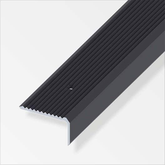 nez de marche aluminium anodis l 2 m x l 4 1 cm x h 2 3. Black Bedroom Furniture Sets. Home Design Ideas