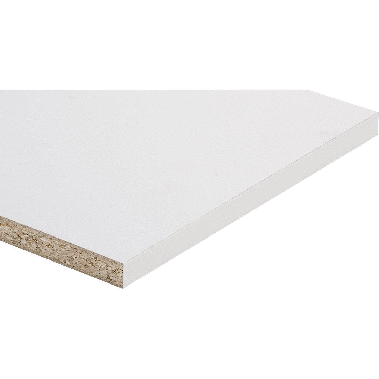 tablette m lamin super blanc spaceo x cm x mm leroy merlin. Black Bedroom Furniture Sets. Home Design Ideas