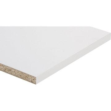 Tablette Mlamin Super Blanc SPACEO L120 X L30 Cm Ep