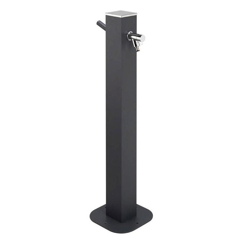 Fontaine Robinet En Aluminium Gris Anthracite