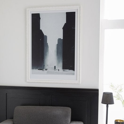 cadre flanella 40 x 50 cm blanc leroy merlin. Black Bedroom Furniture Sets. Home Design Ideas
