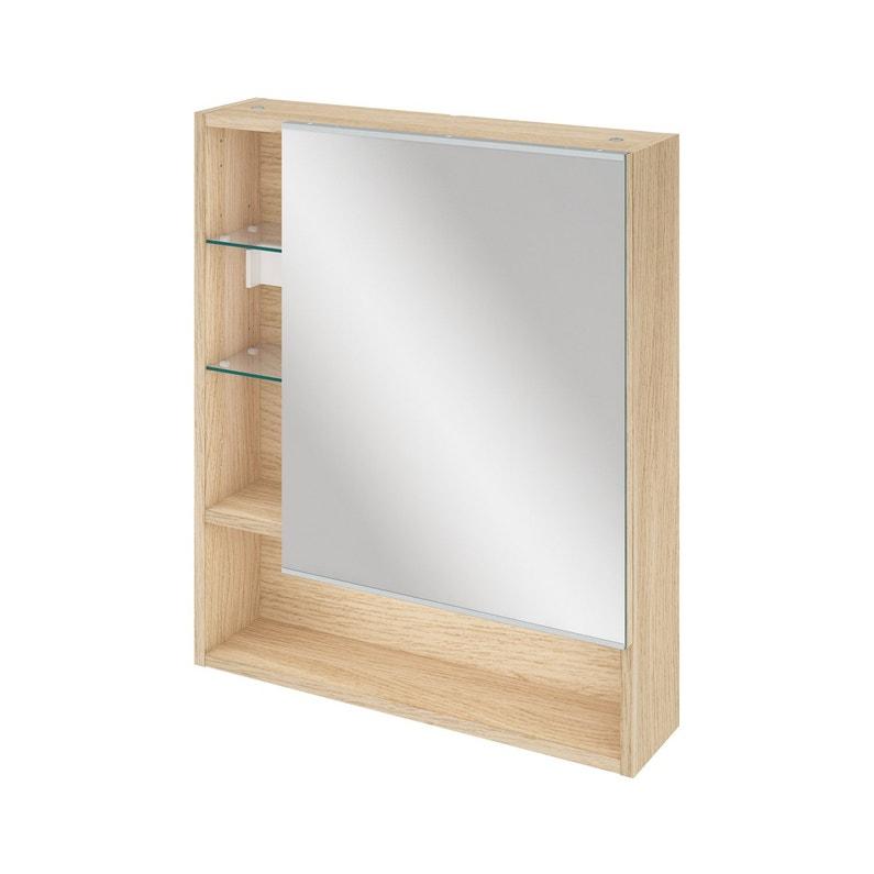 Armoire de toilette l. 60 cm, chêne naturel, SENSEA Easy