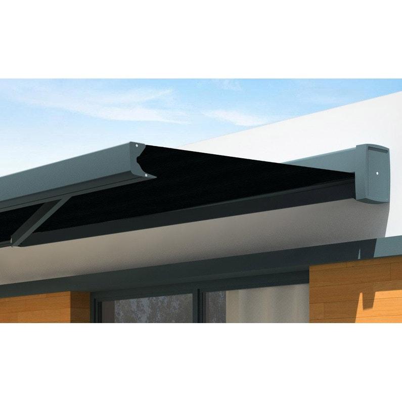 Store Banne Motorisé 4 X 3 5 M Noir Loft Xl Toile Acrylique Premium