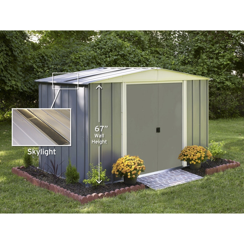 meilleure sélection 972ca 34bfc Abri de jardin acier Lm10667s Ep.0.22 mm, 5.04 m²