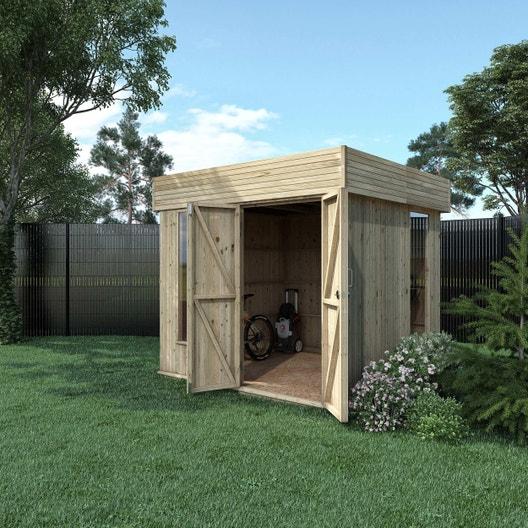 Pose d 39 un abri de jardin jusqu 39 5 m leroy merlin - Poser un abri de jardin ...