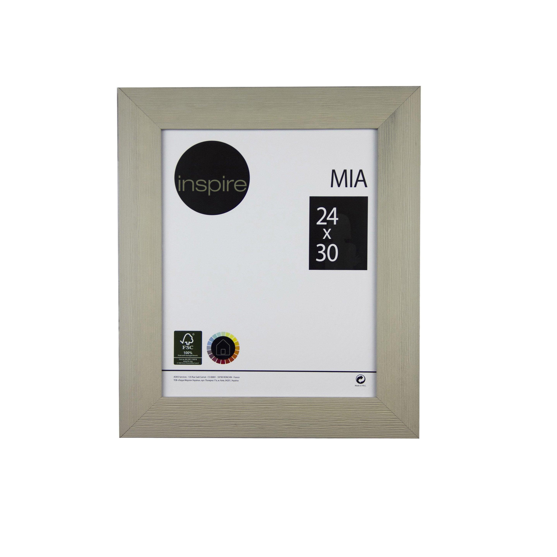 Cadre Mia, 24 x 30 cm, taupe