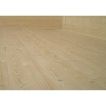 Plancher en bois Kemi, l.238 x H.16 x P.238 cm