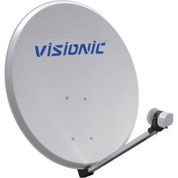 Antenne satellite parabolique aluminium 85 cm, VISIONIC