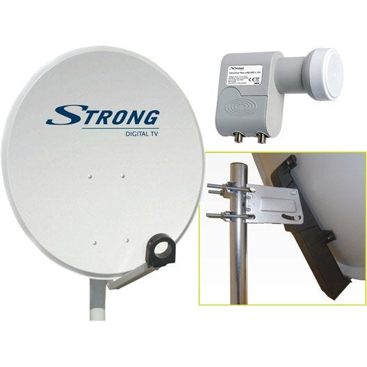 Antenne satellite parabolique acier 80 cm strong leroy for Antenne 2 telematin cuisine