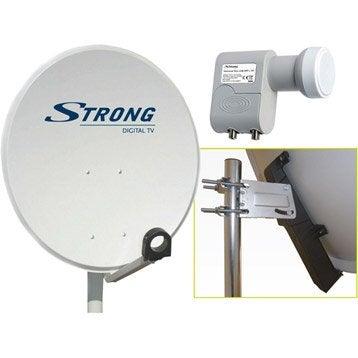 Antenne satellite parabolique acier 80 cm, STRONG