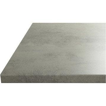 Plan de travail de cuisine stratifi bois inox recoupable leroy merlin for Plan de travail ciment