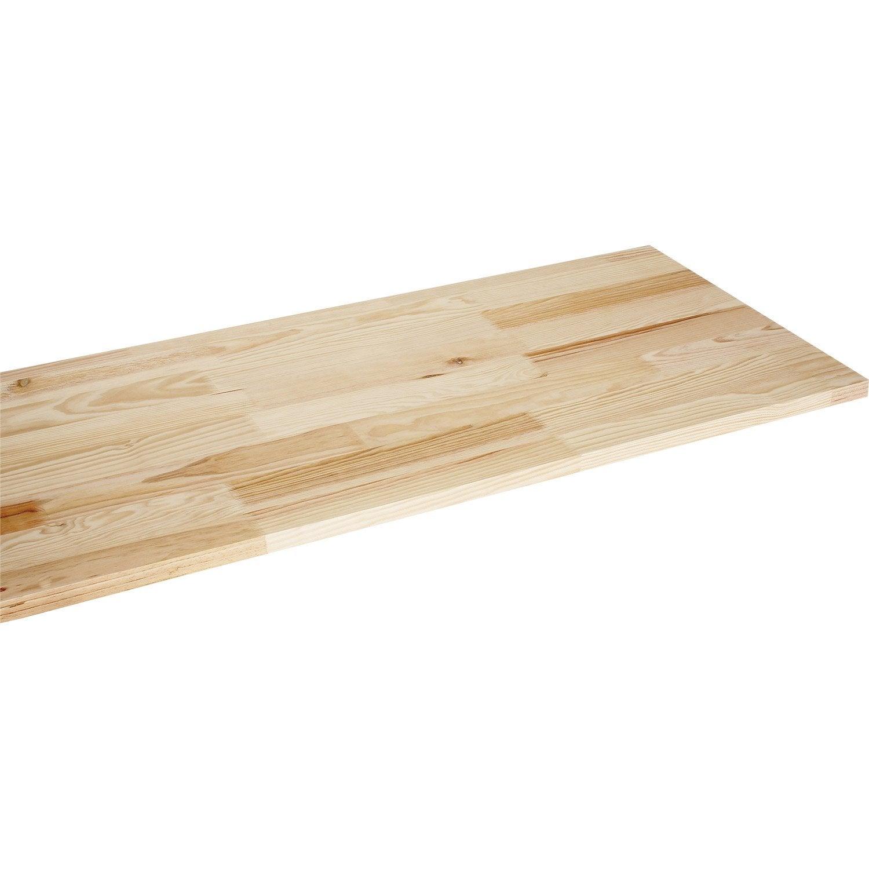 plateau tabli pin x cm x mm leroy merlin. Black Bedroom Furniture Sets. Home Design Ideas