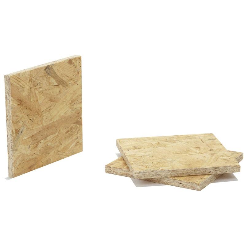 Plus adapté Panneau osb 3 3 plis épicéa naturel, Ep.12 mm x L.250 x l.125 cm IX-15