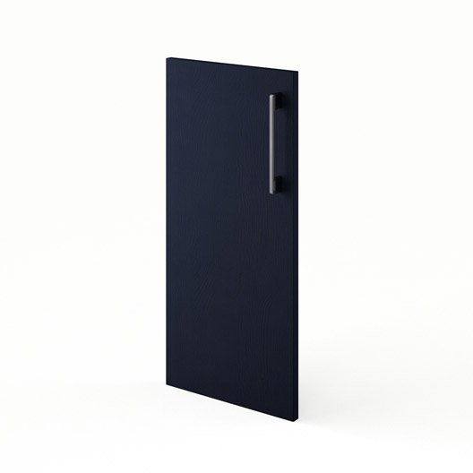Porte pour angle de cuisine bleu topaze x cm for Porte 70 cm de large