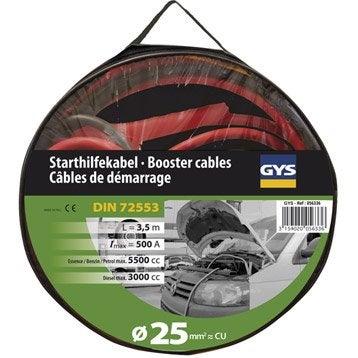 Câble de dépannage d'urgence GYS 3.5 L/5.5 L (500 Amp)