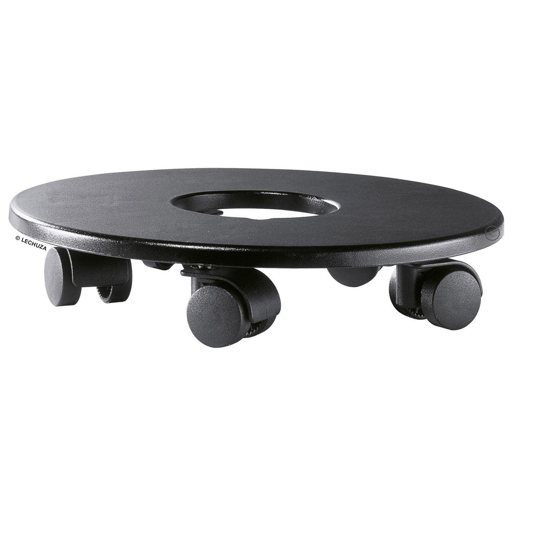 support pot avec roulette lechuza classico quadro rond noir h 5 8 x cm leroy merlin. Black Bedroom Furniture Sets. Home Design Ideas