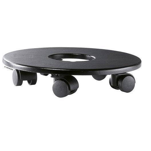 Support pot avec roulette LECHUZA Classico/quadro rond noir