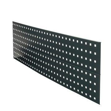 Décor aluminium à emboîter Premium anthracite, L.148.3 x H.37 cm x Ep.1.5 mm