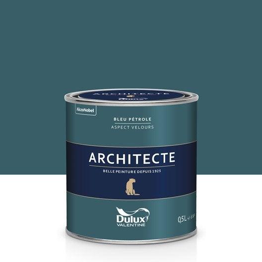 gallery of peinture bleu ptrole velours dulux valentine architecte l with peinture bleu ptrole. Black Bedroom Furniture Sets. Home Design Ideas