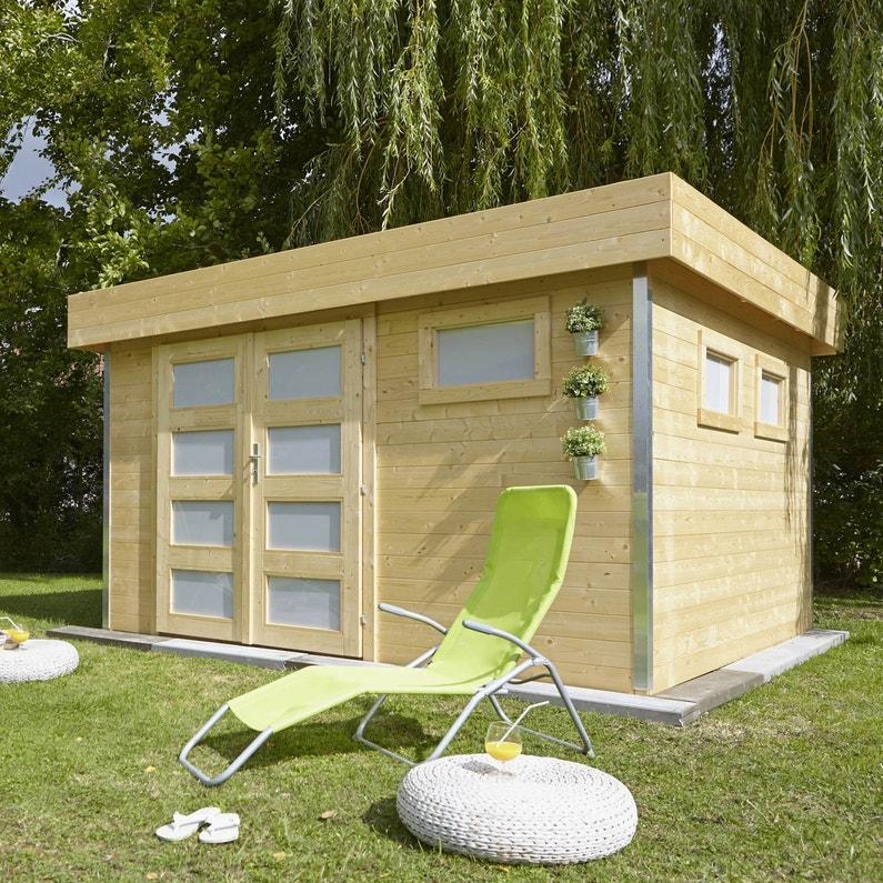 Abri de jardin bois Comfy Ep.28 mm, 9.99 m² | Leroy Merlin
