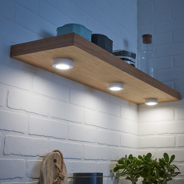 Kit 3 spots Lakao, 1 x 2.6 W, LED intégrée blanc froid, blanc