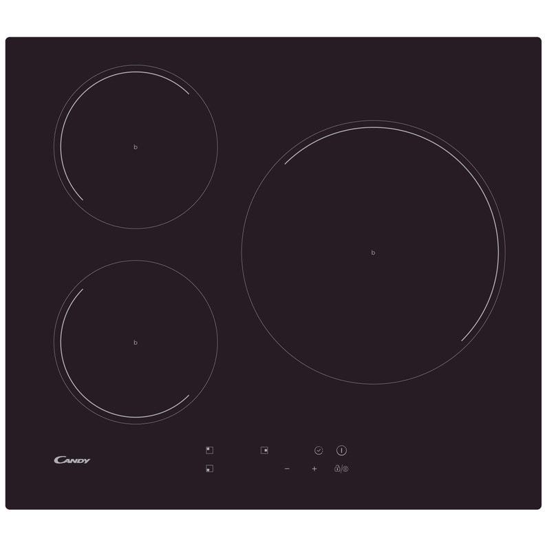 Plaque à Induction 3 Foyers Noire Candy Ci633c