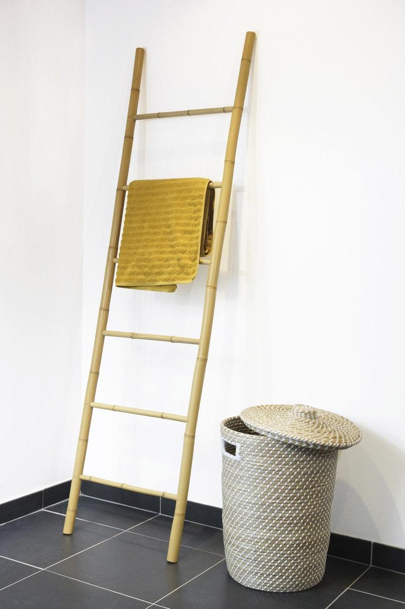 Deco Avec Une Echelle En Bois porte-serviettes à poser, bambou